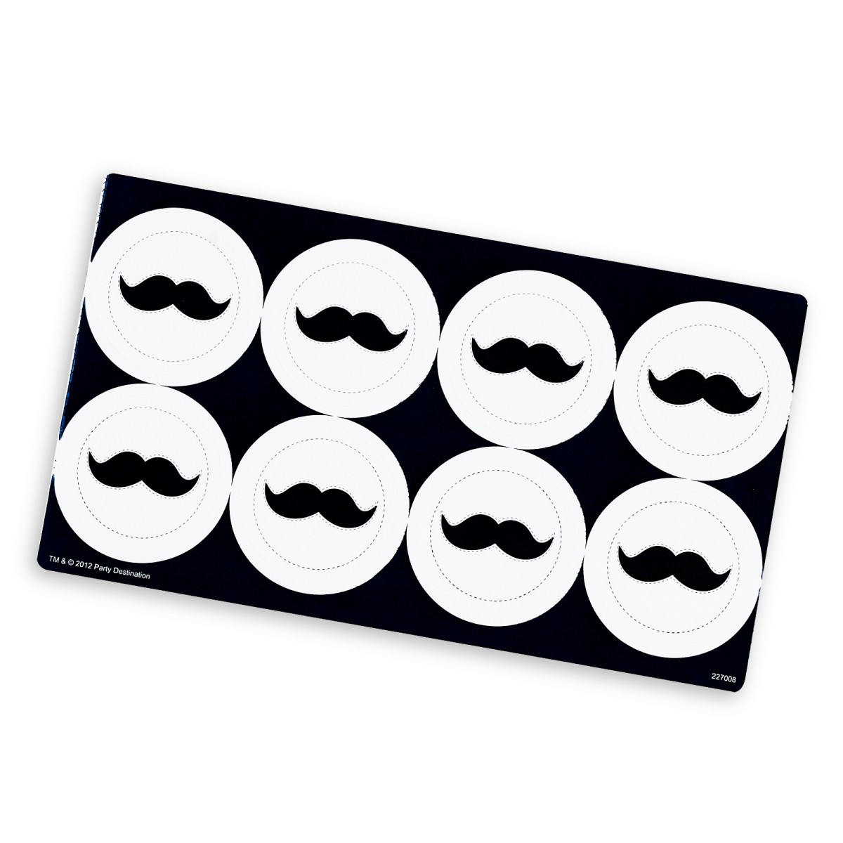 Little Man Mustache Small Lollipop Sticker Sheet