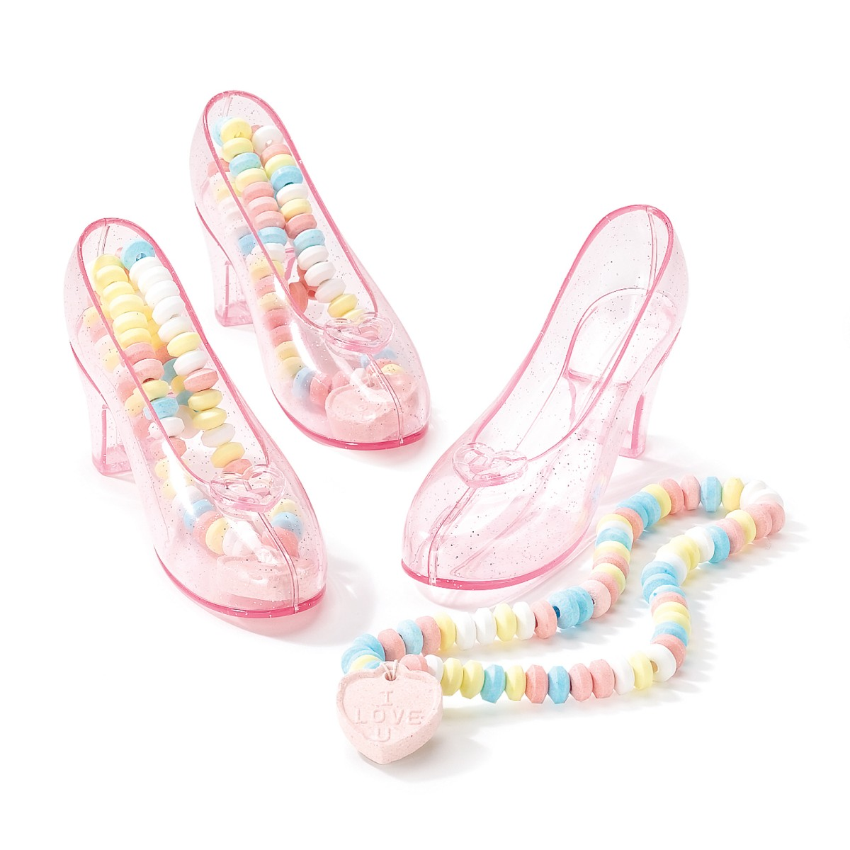 Candy-Filled Crystal Shoes