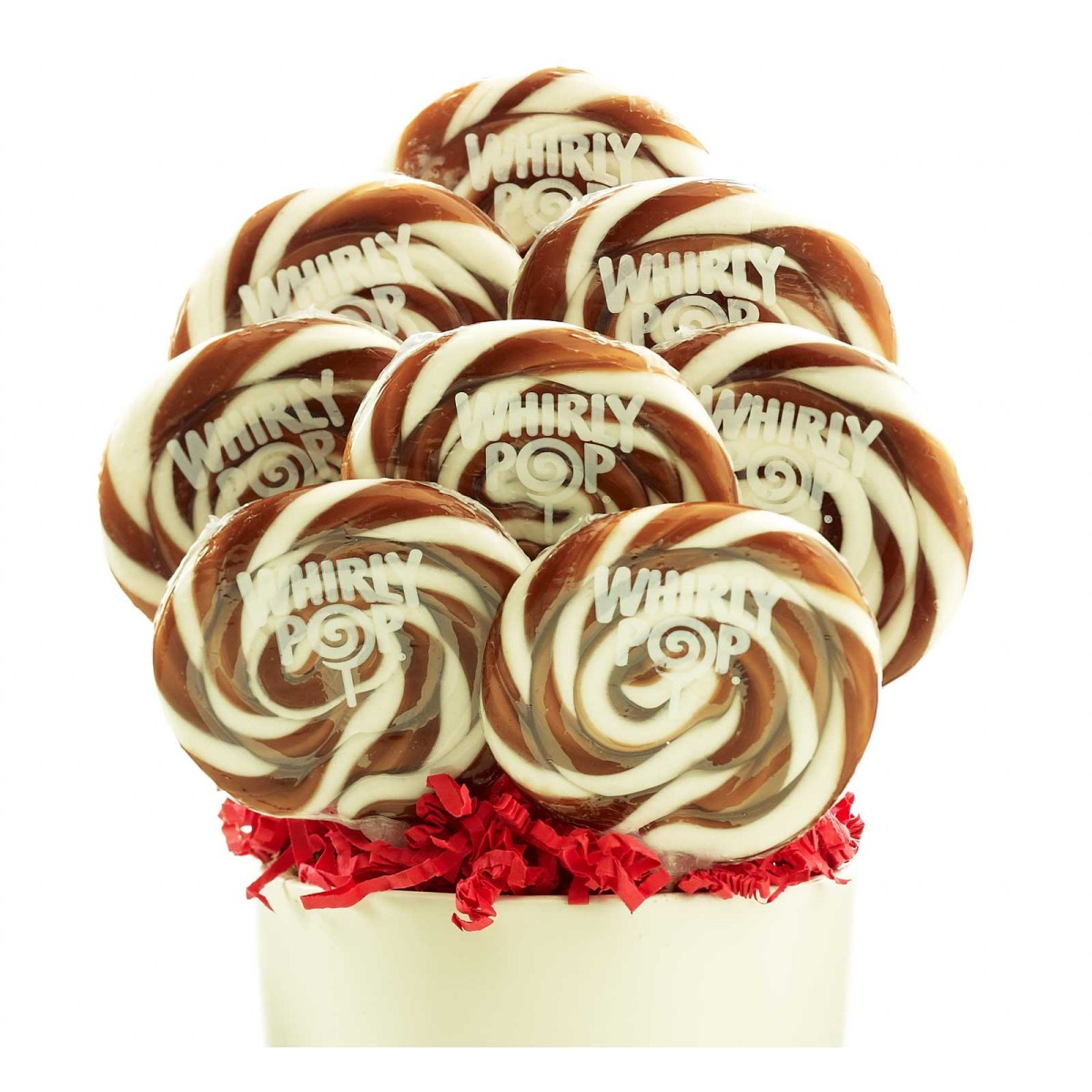 Brown and White Whirly Pops