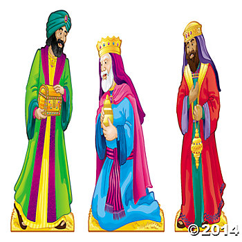 Cardboard Three Wise Men Stand-Ups