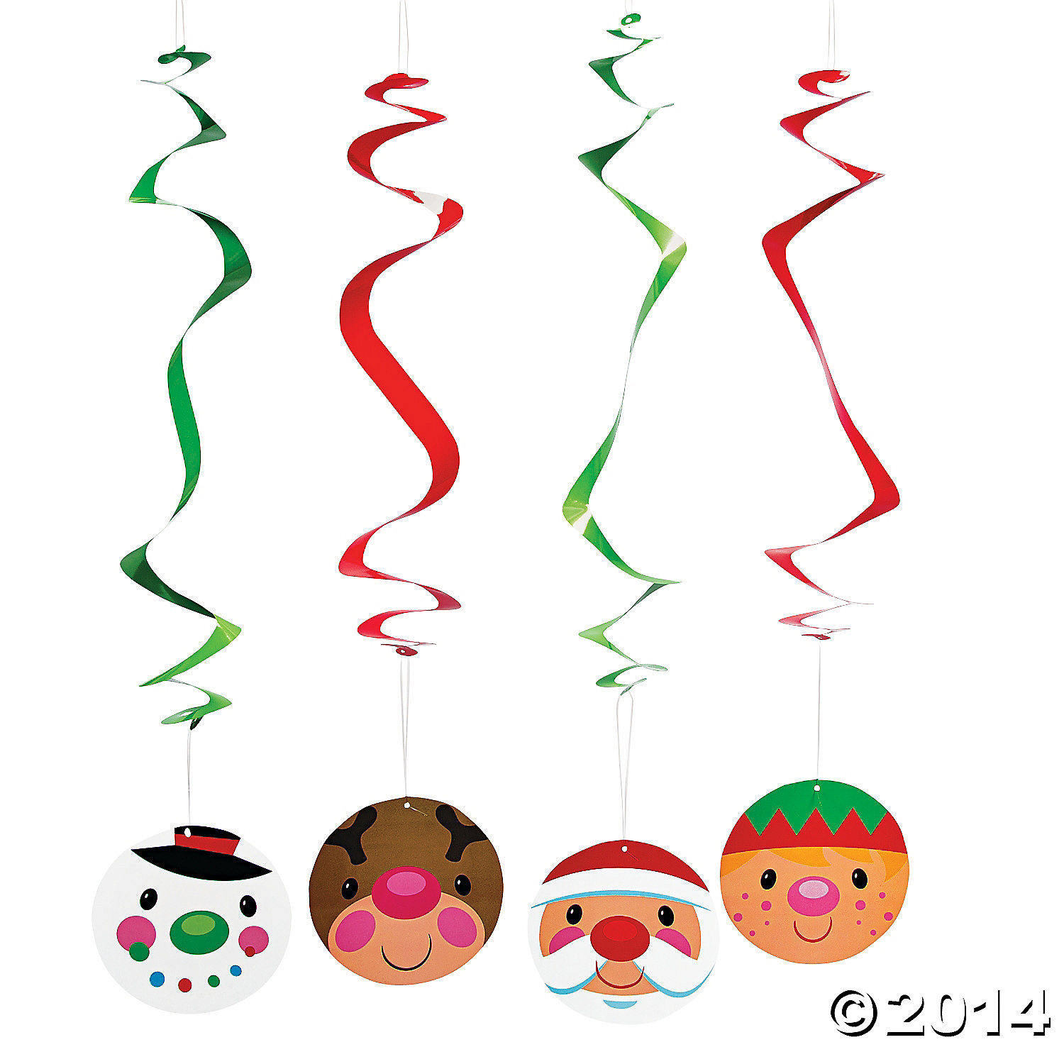 Paper Cheery Christmas Hanging Swirls
