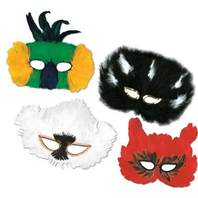 Classic Fanci-Feather Masks