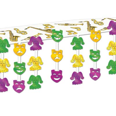 Mardi Gras Ceiling Decor 12 x 12 in.