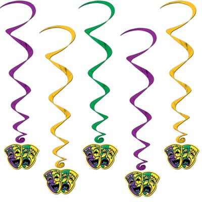 Mardi Gras Whirls 3ft