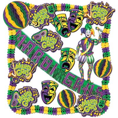 Mardi Gras Decorating Kit - 19 Ct