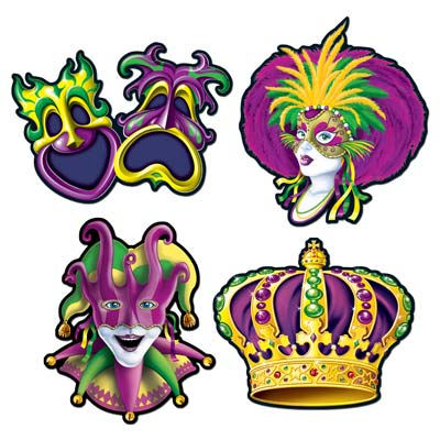 Mardi Gras Cutouts 16in