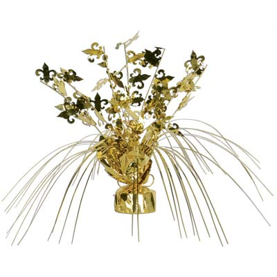 Fleur De Lis Gleam 'N Spray Centerpiece 11in