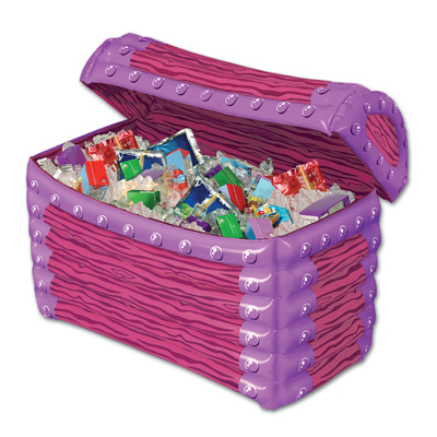 Inflatable Princess TreasureChest Cooler 24W x 17H