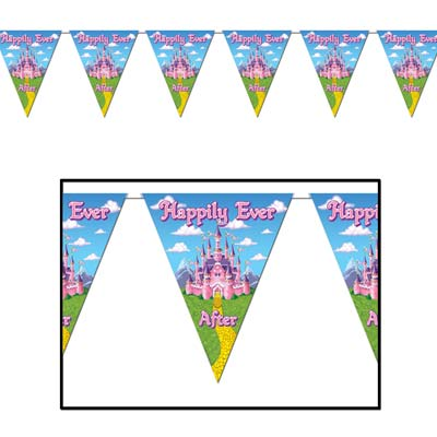 Princess Pennant Banner 10 in x 12 ft