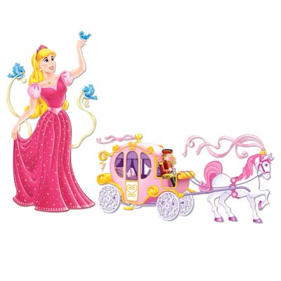 Princess & Carriage Props 5ft 4in & 5ft 4.5in