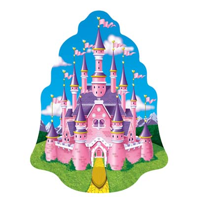 Princess Castle Wall Cling 5' 8 x 4' 3
