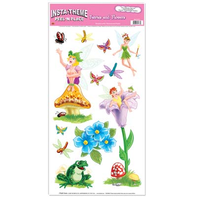 Fairies & Flowers Peel 'N Place 12x24in Sheet