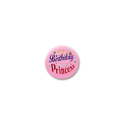 Birthday Princess Satin Button 2