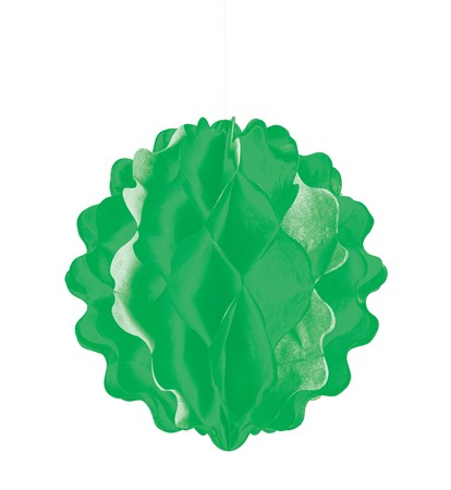Green Vertical Die-Cut 8in Honeycomb Ball