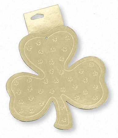 Shamrock Foil Embossed 8in Cutout