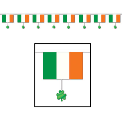 Flags & Shamrocks Banner 16ft x 12in