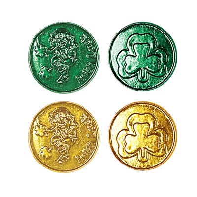 Lucky Leprechaun Plastic Coins 1.5in
