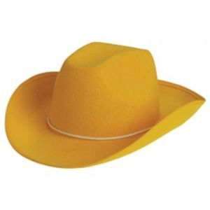 Felt Cowboy Hat - Yellow