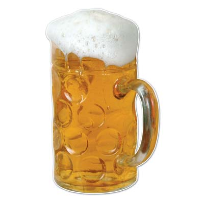 Beer Mug Wall Cling 4ft 2in x 31in