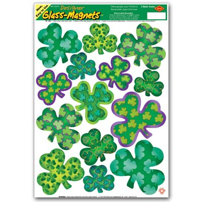 Irish-Mood Shamrock Clings 12 x 17 Sh