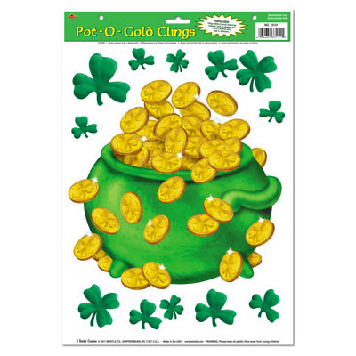 Pot-O-Gold Clings 12 x 17 in Sheet