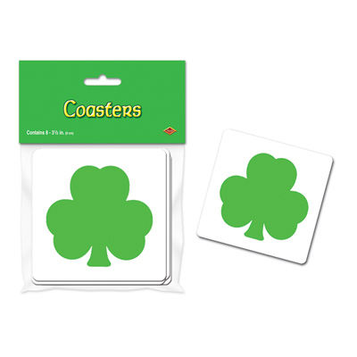 Shamrock Coasters 3.5in
