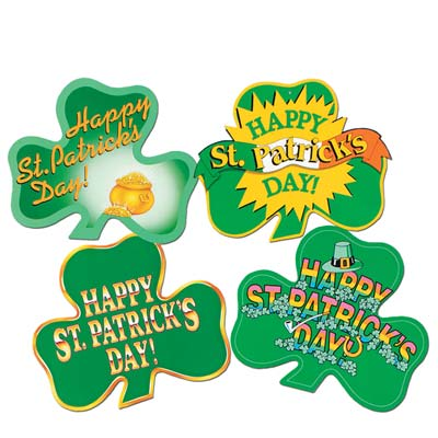 Pkgd St Patrick's Day Shamrock Cutouts 16in