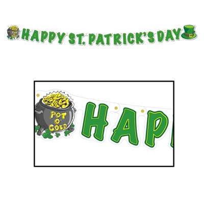 Happy St Patrick's Day Streamer 5 x 5'