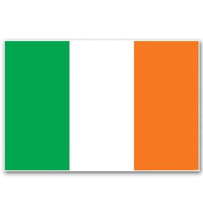 Irish Flag Wall Cling 34in x 4ft 2in