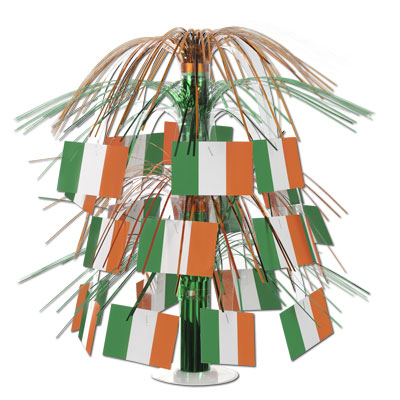 Irish Flag Cascade Centerpiece 18in