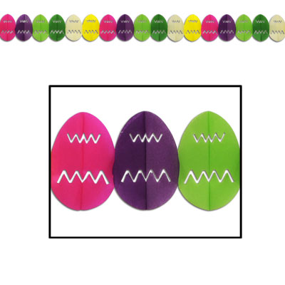 Easter Egg Garland 7.75in x 12ft
