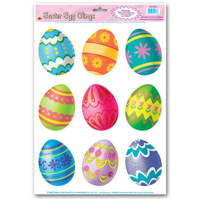 Easter Egg Clings 12 x 17in Sheet