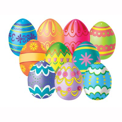 Mini Easter Egg Cutouts 4.5in 10ct