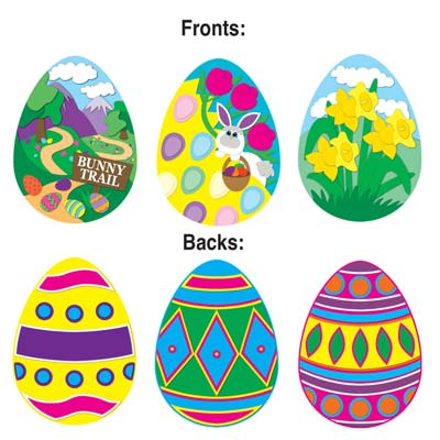 Easter Egg Cutouts 14in
