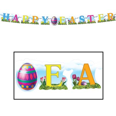 Happy Easter Streamer 4 x 5'