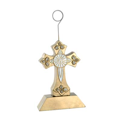 Cross Photo Balloon Holder 6 Oz gold