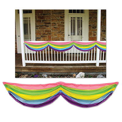 Spring Rainbow Fabric Bunting 5ft10in