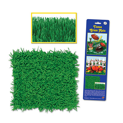Pkgd Tissue Grass Mats 15x30in green