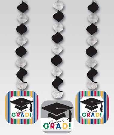 Graduation Stripes Hanging Cutout