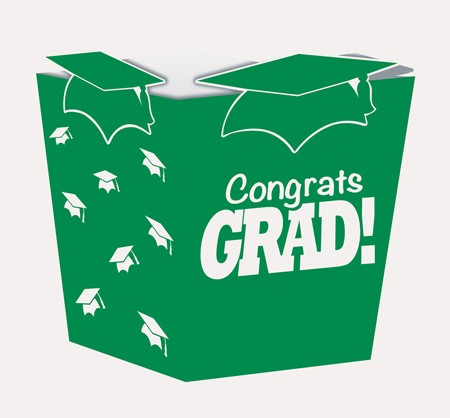 Green Grad Shaped Treat Boxes