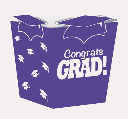 Purple Grad Shaped Treat Boxes