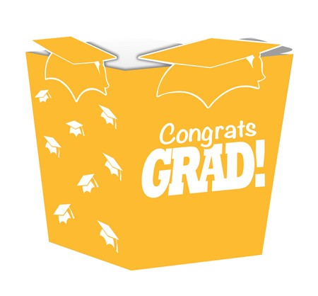 Yellow Grad Shaped Treat Boxes