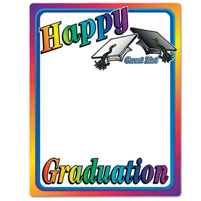 Happy Graduation Partygraph 23 x 18
