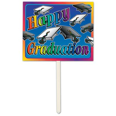 Happy Graduation Yard Sign 12 x 15