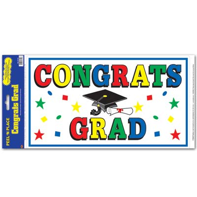 Congrats Grad Peel 'N Place 12x24in Sheet