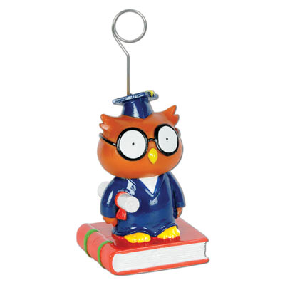 Owl Graduate PhotoBalloon Holder 6 Oz