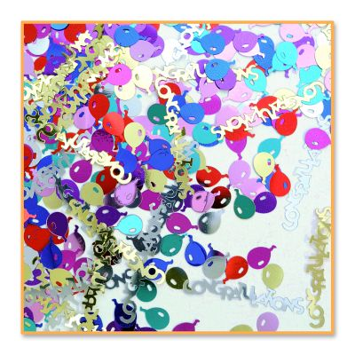 Congrats & Balloons Confetti - Multi-color Oz
