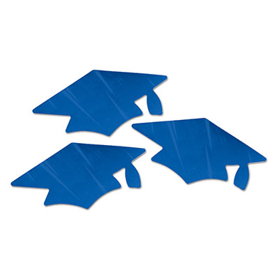 Blue Metallic Grad Cap Cutouts