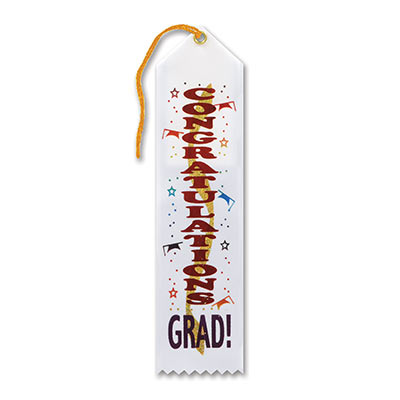 Congratulations Grad Award Ribbon 2 x 8
