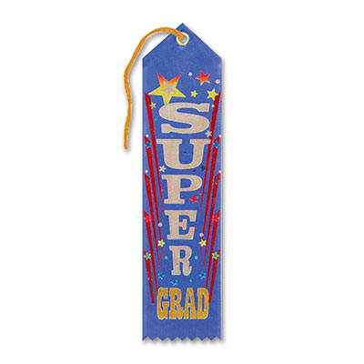 Super Grad Award Ribbon 2 x 8in